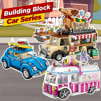 Car Series Building Block with intricate details Great Gifts for Kids / Adult